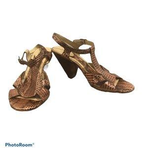 ASH Snake Print Heeled Sandals size 40
